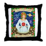 Lady Capricorn Throw Pillow