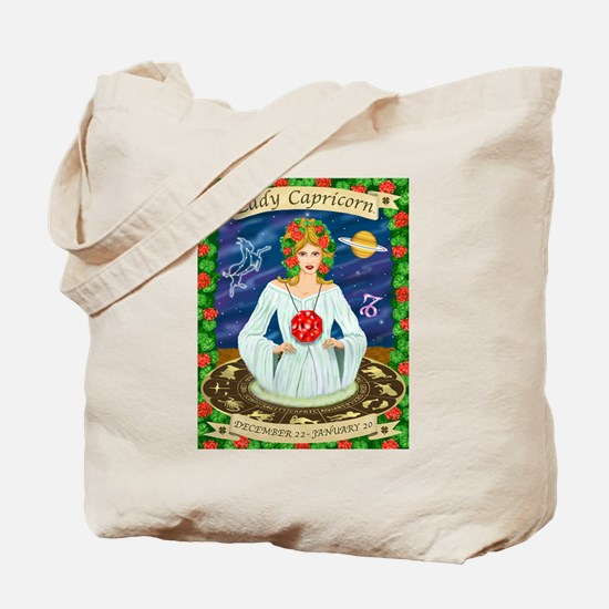 Lady Capricorn Tote Bag
