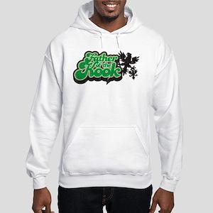 Father of the Kook - Distress Hooded Sweatshirt