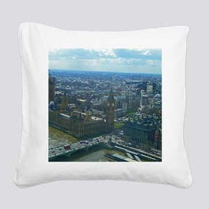 Big Ben Square Canvas Pillow