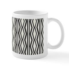 Stylish Cream Black Patterned Mug Mugs