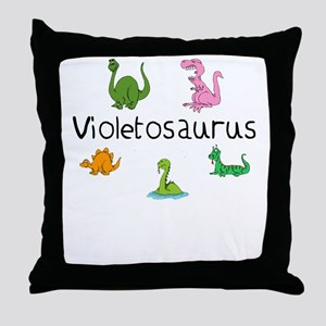Violetosaurus Throw Pillow