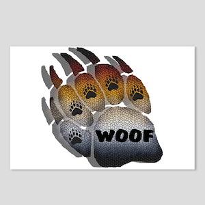 wOOF FURRY BEAR PRIDE PAW Postcards (Package of 8)