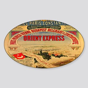 The Orient Express Oval Sticker