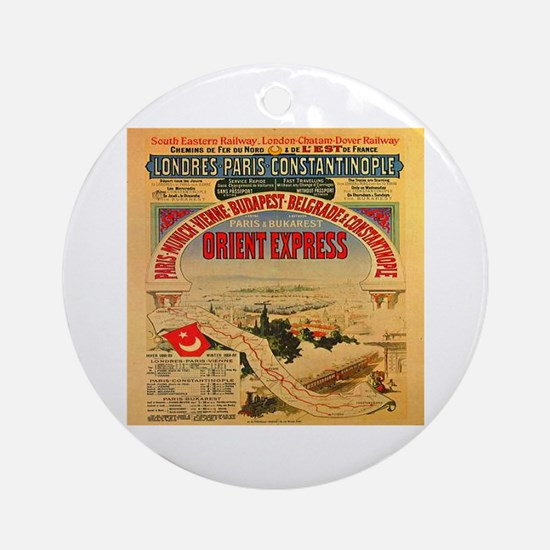 The Orient Express Ornament (Round)
