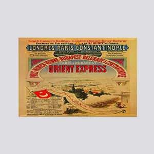 The Orient Express Rectangle Magnet