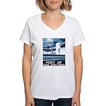 Port Of Philadelphia Women's V-Neck T-Shirt