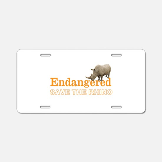 Rhino Aluminum License Plate