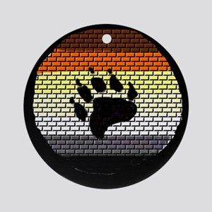BEAR PRIDE COLORED BRICK WALL Ornament (Round)