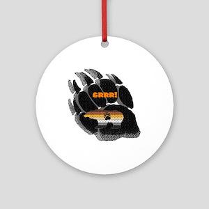 BLACK BEAR PAW/PRIDE BEAR Ornament (Round)