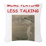 tennis Woven Throw Pillow