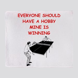 table tennis Throw Blanket