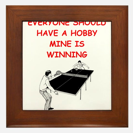 table tennis Framed Tile