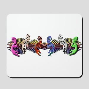 Colorful Kokopelli Banner Mousepad