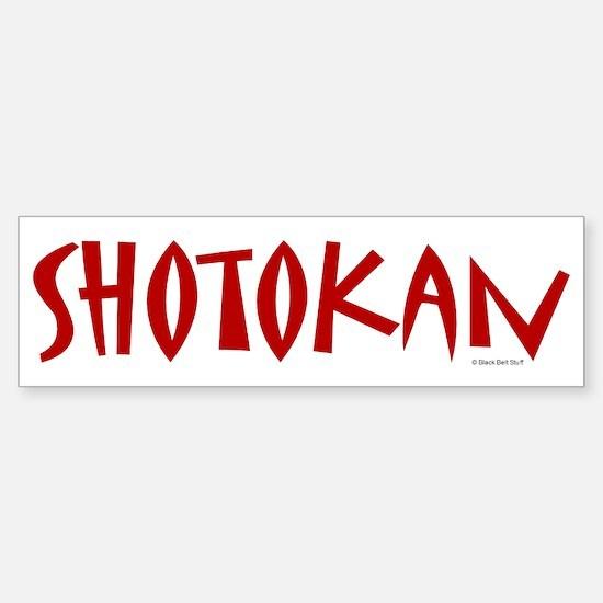 Shotokan Bumper Bumper Bumper Sticker