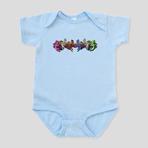 Colorful Kokopelli Banner Infant Bodysuit