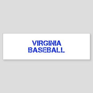 VIRGINIA baseball-cap blue Bumper Sticker