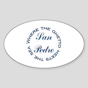 San Pedro Oval Sticker
