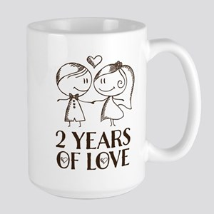 2nd Anniversary chalk couple Mugs