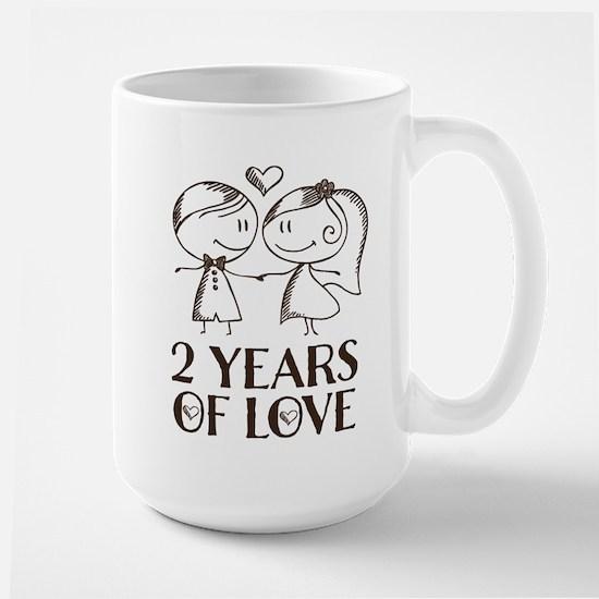 2nd Anniversary chalk couple Mugs