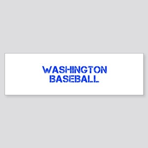 WASHINGTON baseball-cap blue Bumper Sticker