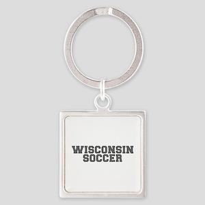 WISCONSIN soccer-fresh gray Keychains