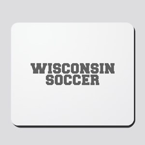 WISCONSIN soccer-fresh gray Mousepad