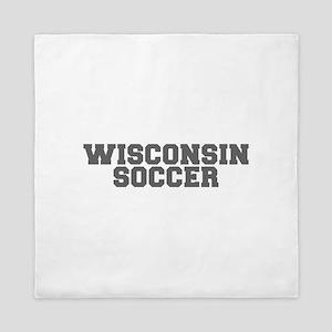 WISCONSIN soccer-fresh gray Queen Duvet