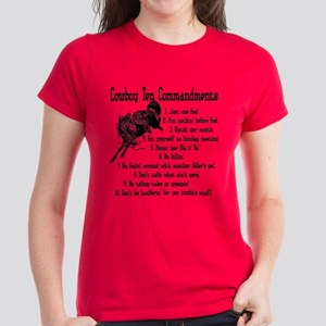 Cowboy Ten Commandments Women's Dark T-Shirt
