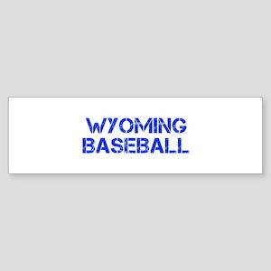 WYOMING baseball-cap blue Bumper Sticker
