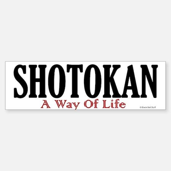 Shotokan A Way Of Life Bumper Bumper Bumper Sticker