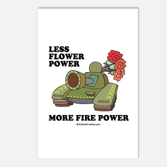 Less flower power Postcards (Package of 8)