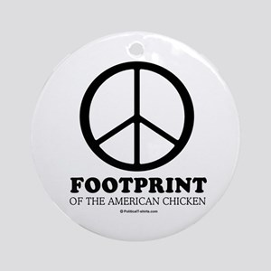 Footprint of the American Chicken Ornament (Round)