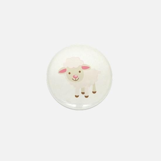 Cute Lamb Mini Button
