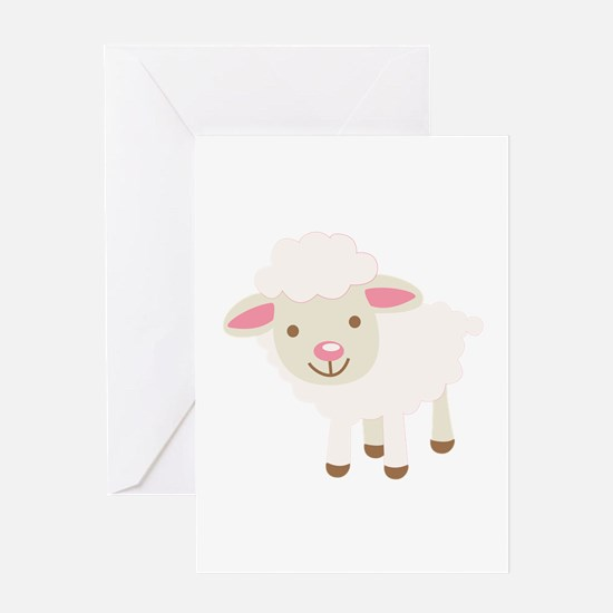 Cute Lamb Greeting Cards