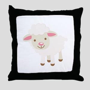 Cute Lamb Throw Pillow