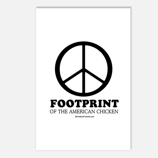 Footprint of the American Chicken Postcards (Packa