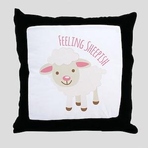 Feeling Sheepish Throw Pillow