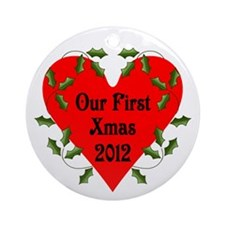 First Xmas 2012 Ornament (Round)
