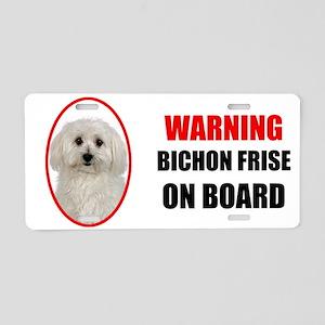 Bichon Frise On Board Aluminum License Plate