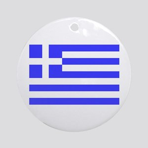 Greek Flag Ornament (Round)