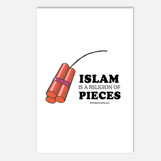 Islam is a religion of pieces Postcards (Package o