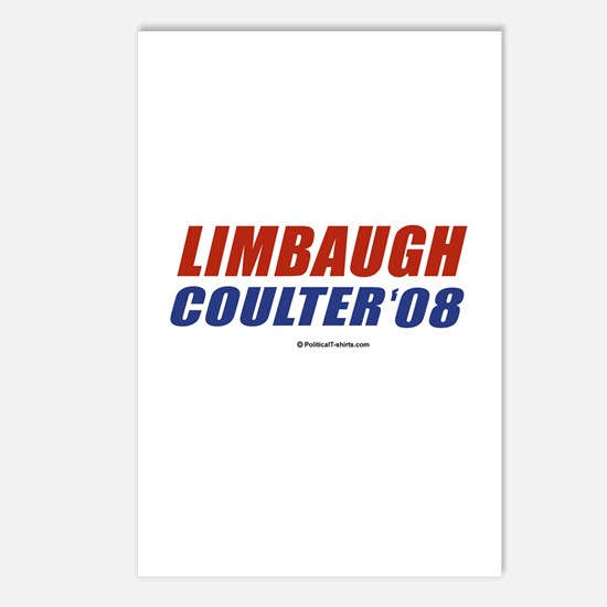 Limbaugh / Coulter 2008 Postcards (Package of 8)