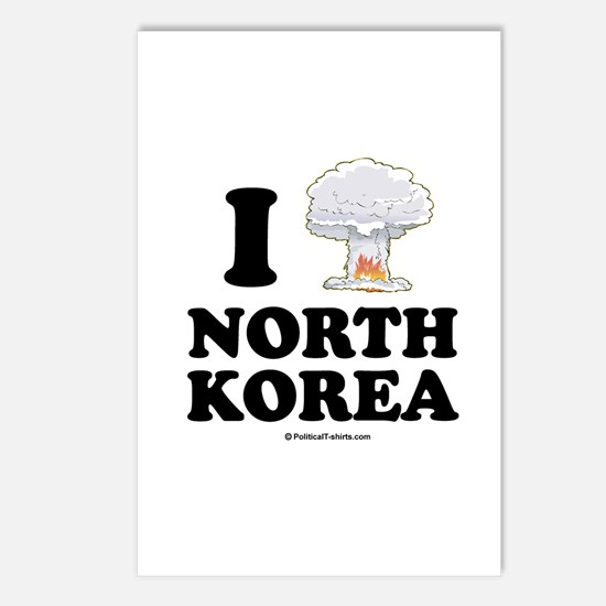 I (bomb) North Korea Postcards (Package of 8)