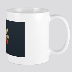 Nice Bright Flower Logo Black Mug Mugs