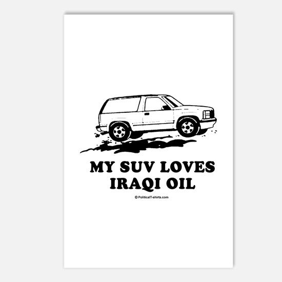 My SUV loves Iraqi oil Postcards (Package of 8)