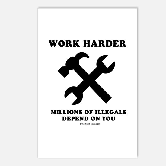 Work Harder, Millions depend on you Postcards (Pac