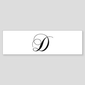 D-cho black Bumper Sticker