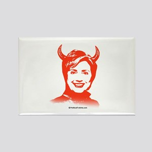 Anti-Hillary: Hillary is the Devil Rectangle Magne