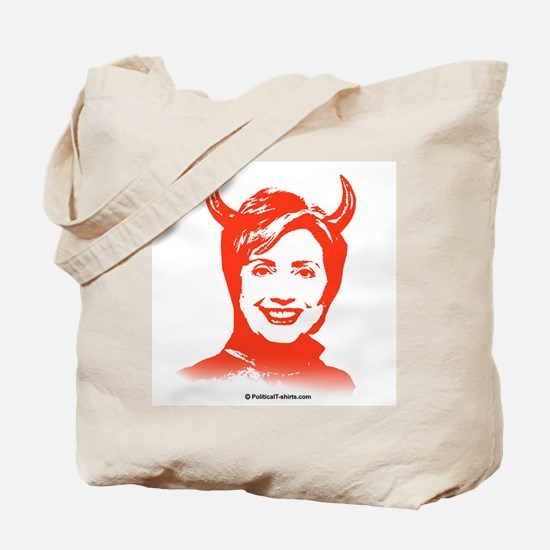 Anti-Hillary: Hillary is the Devil Tote Bag